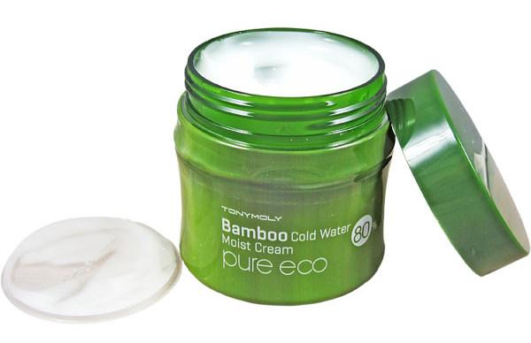 TONY MOLY Крем для лица / Pure Eco Bamboo Cold Water Moist Cream 200 мл тоник tony moly pure eco bamboo clear water fresh toner объем 300 мл