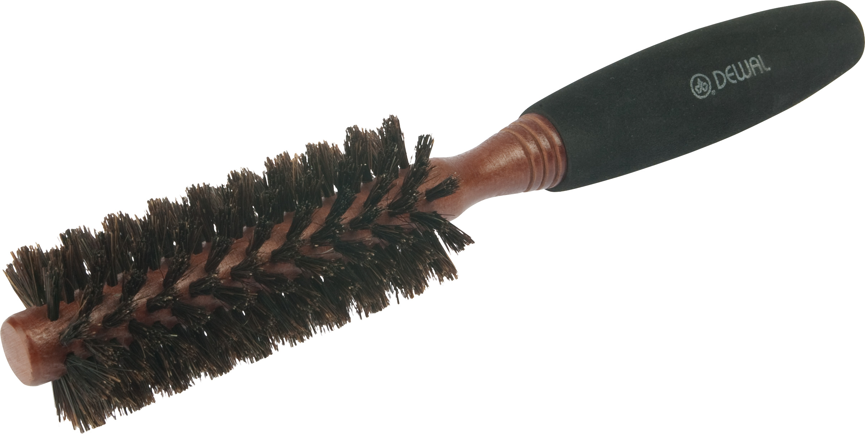 DEWAL PROFESSIONAL Брашинг деревянный, натуральная щетина, мягкая ручка d 16/40 мм