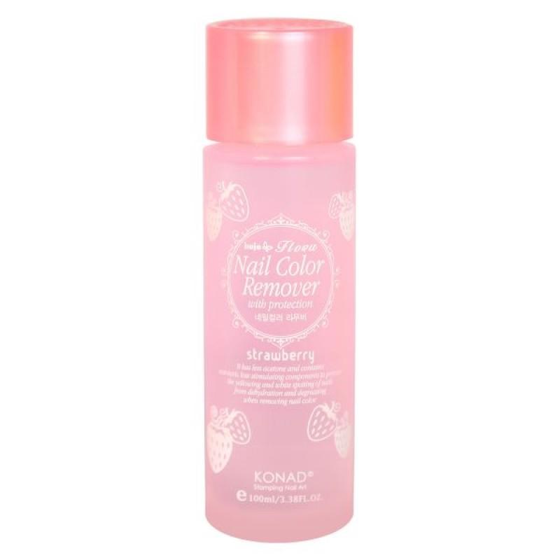 KONAD Жидкость для снятия лака с ароматом клубники / Nail Protection 100мл