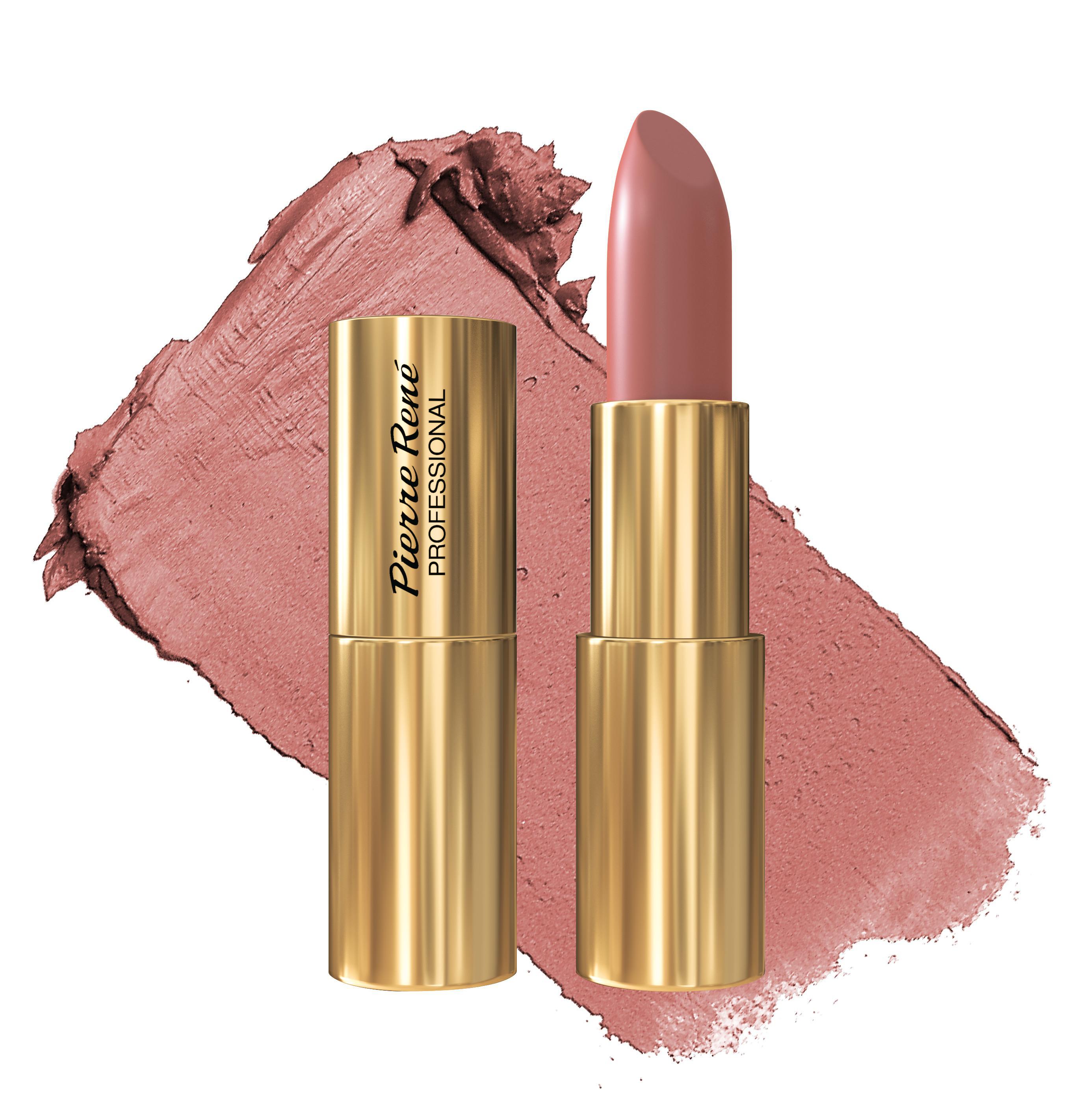 Купить PIERRE RENE Помада сатиновая для губ, 03 светлый бежево-розовый / Royal Mat Lipstick 4, 8 г