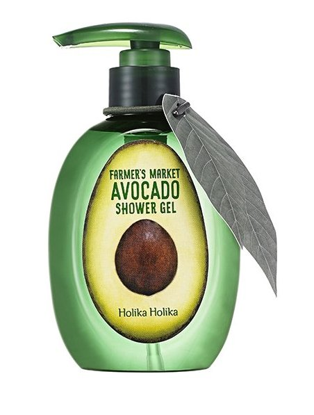"HOLIKA HOLIKA Гель для душа, с авокадо ""Фармерс маркет"" / Farmer's Market Avocado Shower Gel 240мл"