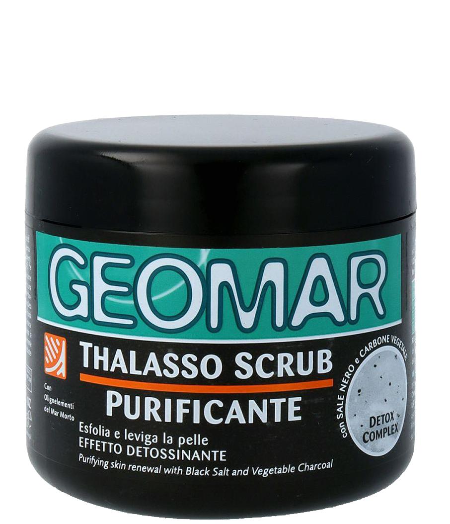GEOMAR Скраб-талассо очищающий с черной солью и растительным углем для тела 600 г
