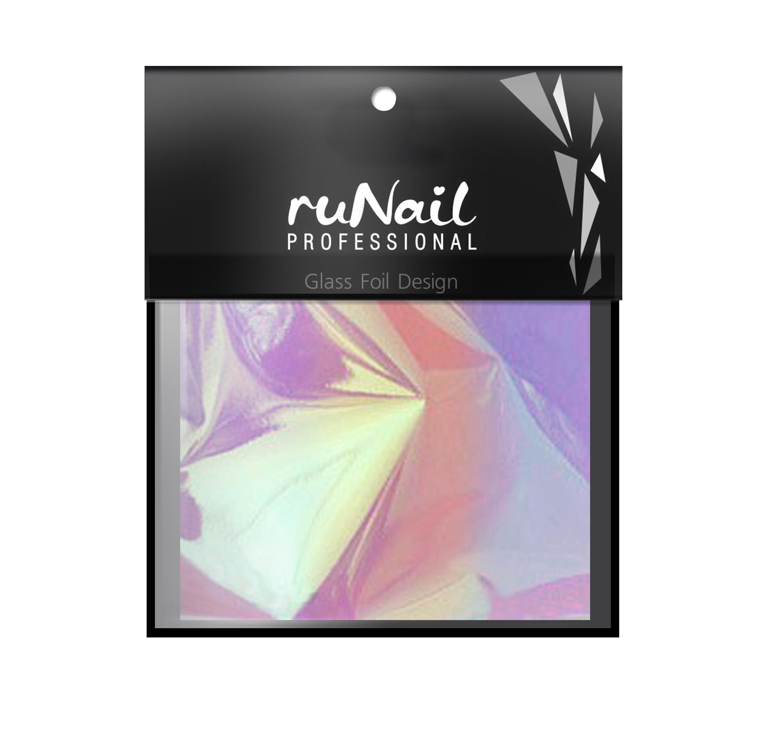 """RuNail Дизайн для ногтей: фольга с эффектом """"Битое стекло""""(цвет радужный), 4х100см"""