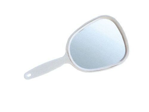 SIBEL Зеркало S с ручкой 7.5х16смЗеркала<br>Зеркало 7,5 х 16 см одностороннее малое на ручке, в пластиковой оправе белого цвета.<br>