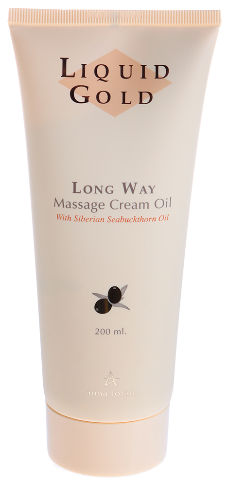 "ANNA LOTAN ����-����� ��� ������� ""�������"" / Long Way Massage Cream-Oil LIQUID GOLD 200��"