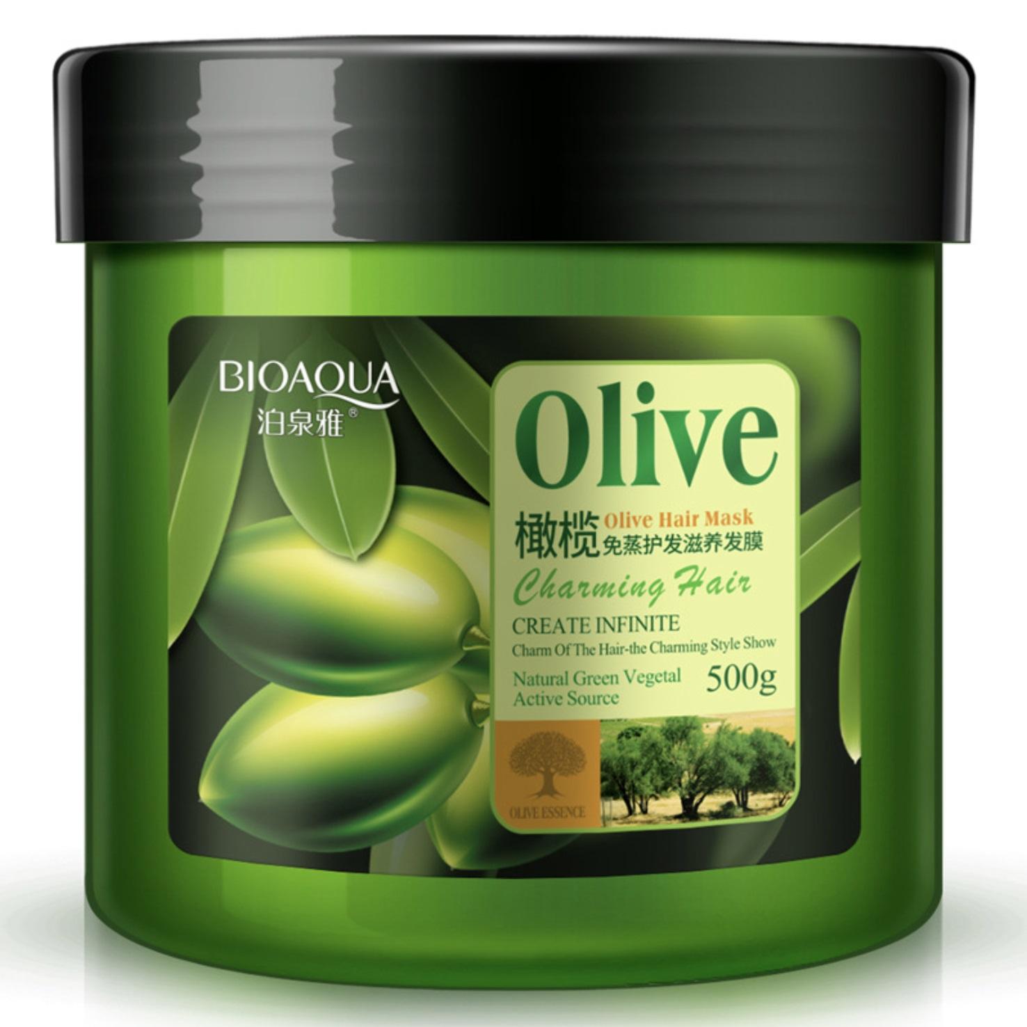 BIOAQUA Маска для волос с маслом оливы 500 мл -  Маски