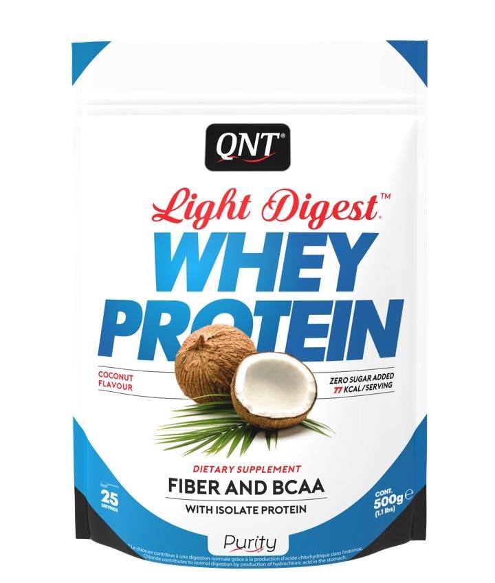 Купить QNT Добавка биологически активная к пище Лайт дайджест вей протеин, кокос / LIGHT DIGEST WHEY PROTEIN Coconut 500 г
