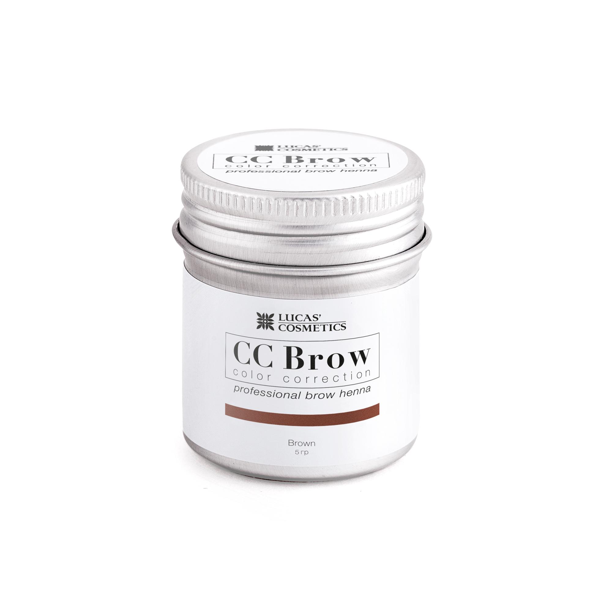 LUCAS' COSMETICS Хна для бровей, коричневый (в баночке) / CC Brow brown 5 г - Хна для бровей