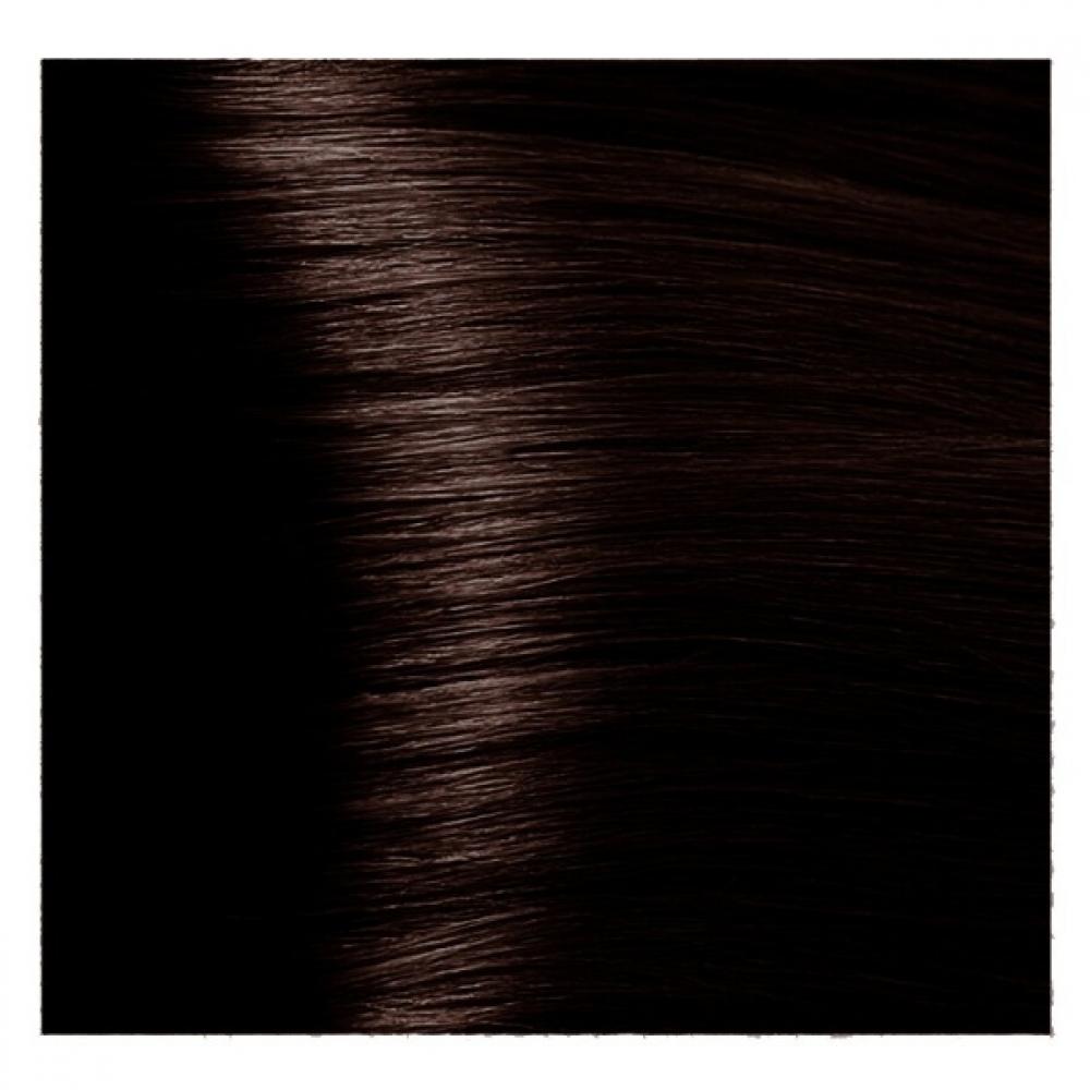 Купить KAPOUS NA 3.53 краска для волос, темный коричневый терракотовый / Magic Keratin 100 мл