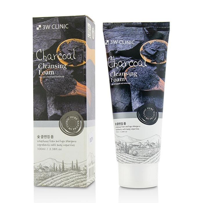 3W CLINIC Пенка для умывания с углем / Foam Cleansing 100 мл  - Купить