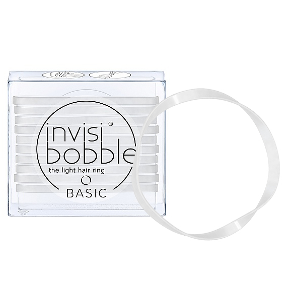 INVISIBOBBLE Резинка для волос / BASIC Crystal Clear 10 шт