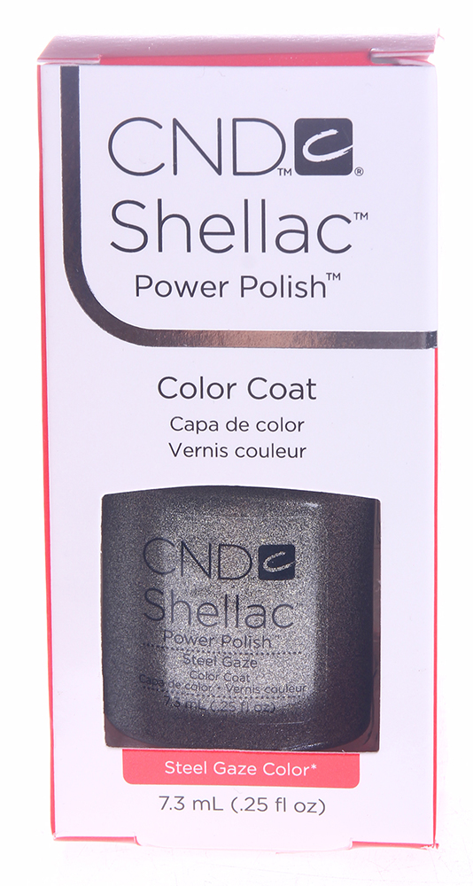 CND 058A покрытие гелевое Steel Gaze / SHELLAC 7,3мл cnd гелевое покрытие uv 045 cnd shellac vexed violette 40545 7 3 мл