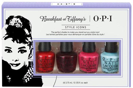 OPI Набор мини лаков для ногтей / Breakfast at Tiffany's Mini 4-pack 4*3,75 мл