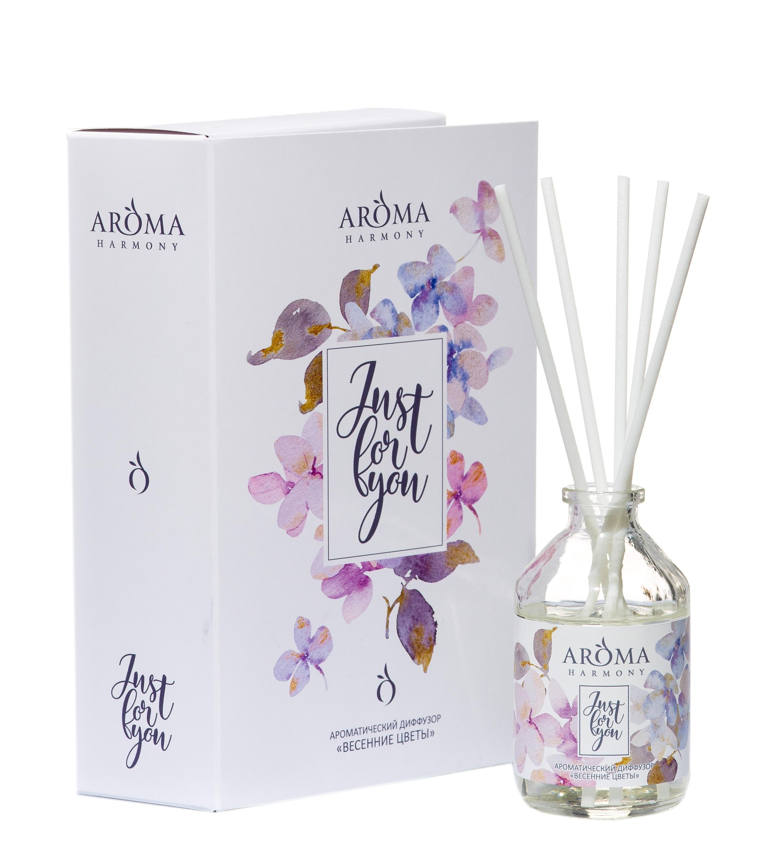 Купить AROMA HARMONY Диффузор-открытка ароматический Весенние цветы / Just for You 50 мл