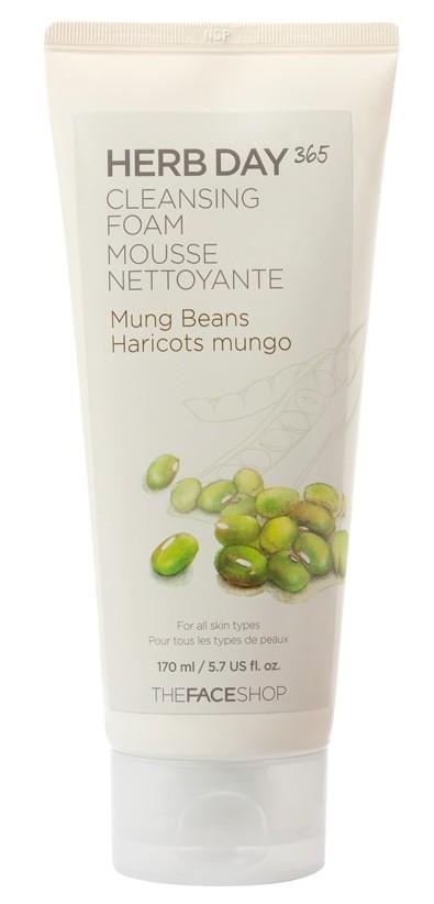 THE FACE SHOP Пенка для умывания, с экстрактом семян маша / Herb Day Cleansing Cream 170 мл