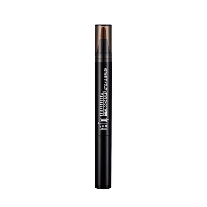 It'S SKIN Консилер Итс Топ Профешенл Дуал, 01 светло бежевый / It's Top Professional Dual Concealer Stick & Brush 01 Light Beige 2.2 г