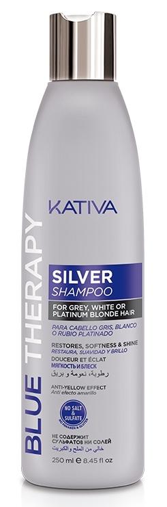 Купить KATIVA Шампунь нейтрализатор желтизны для осветленных и мелированных волос / BLUE THERAPY 250 мл