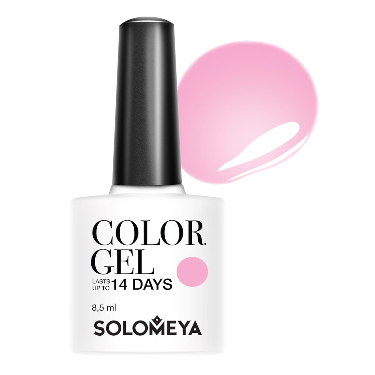 SOLOMEYA Гель-лак Solomeya Color Gel Leticia SCGT009/Летиция 8,5 млГель-лаки<br>Гель-лак Color Gel Solomeya подарит маникюру яркость, палитру из 100 оттенков и стойкость до 21 дня. Благодаря оптимальной консистенции он легко и равномерно наносится, не оставляя пузырьков и проплешин. В состав гель-лака входят качественные красители, обеспечивающие высокую пигментированность каждого оттенка. Не содержит толуол, растворители и отвердители. Способ применения: поверх базового геля нанесите 1 тонкий слой средства, запечатывая торцы ногтей, и просушите в UV-лампе (36 Вт) 1 минуту или в LED-лампе - 30 секунд. Затем нанесите второй слой цветного гель-лака, также запечатывая торцы ногтей, и просушите в UV-лампе (36 Вт) 1 минуту или в LED-лампе - 30 секунд.<br><br>Цвет: Розовые<br>Виды лака: Глянцевые