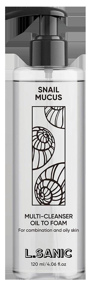 Купить L.SANIC Масло-пенка гидрофильное с муцином улитки 120 мл