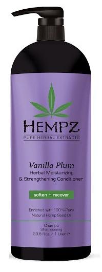 HEMPZ Кондиционер растительный увлажняющий и укрепляющий, ваниль и слива 1000 мл - Кондиционеры