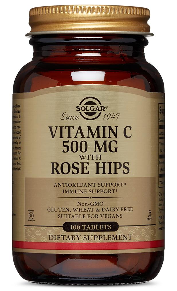 SOLGAR Витамин С и шиповник, таблетки № 100