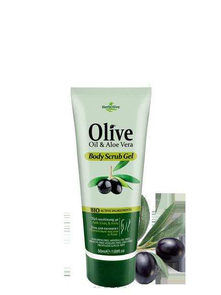 MADIS Мини гель скраб для тела с маслом оливы / HerbOlive 50 мл