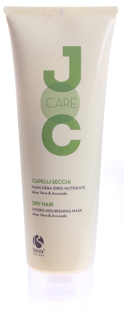 BAREX Маска для сухих и ослабленных волос с Алоэ Вера и Авокадо / JOC CARE 250млМаски<br>Средство, глубоко оздоравливающее и увлажняющее особенно сухие волосы. Идеально подходит для придания волосам дополнительной силы и блеска. Алоэ вера: растение, богатое минералами, витаминами и аминокислотами, глубоко питает ткань волос, укрепляя их изнутри. Масло авокадо: смягчает сухие и тусклые волосы, отчего они становятся мягкими и гибкими. Активные ингредиенты: алоэ вера, масло авокадо. Способ применения: нанести на чистые влажные волосы. Массирующими движениями равномерно распределить по всей длине волос и оставить на несколько минут, затем тщательно смыть водой.<br><br>Вид средства для волос: Увлажняющий<br>Назначение: Секущиеся кончики