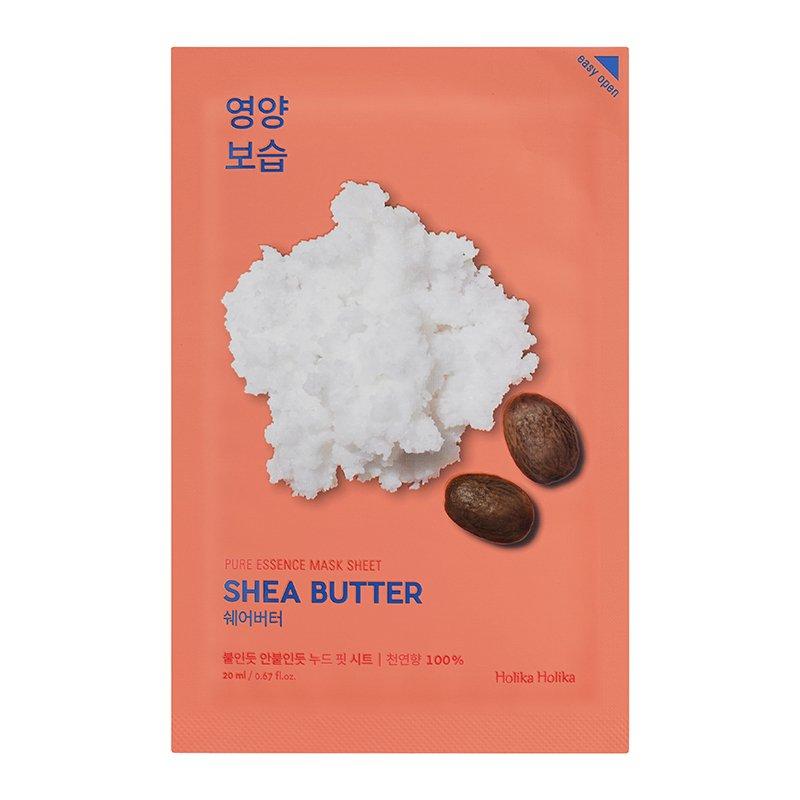 Купить HOLIKA HOLIKA Маска тканевая питающая с маслом ши Пьюр Эссенс / Pure Essence Mask Sheet Shea Butter 20 мл