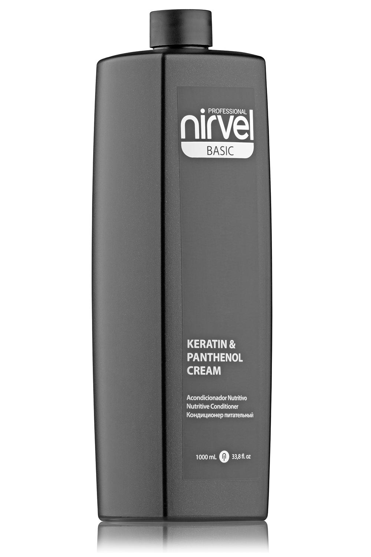 Купить NIRVEL PROFESSIONAL Кондиционер питательный с кератином и пантенолом для сухих, ломких и поврежденных волос / KERATIN & PANTHENOL CREAM 1000 мл