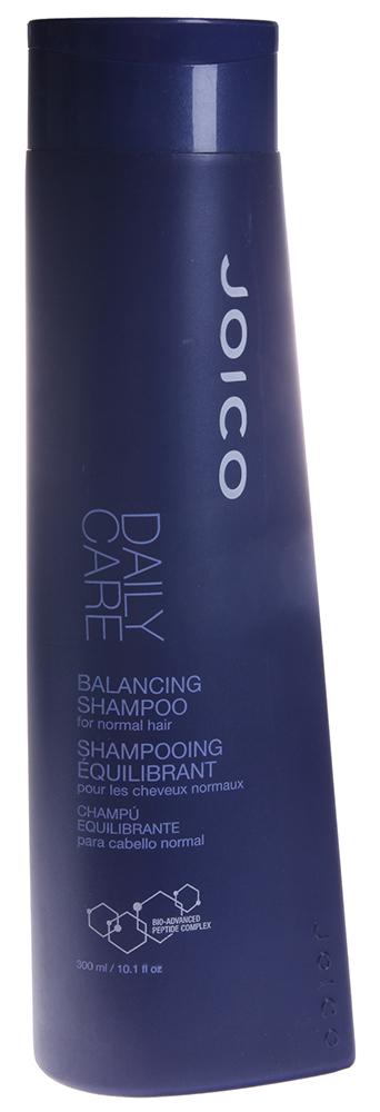 JOICO Шампунь балансирующий для нормальных волос / DAILY CARE 300млШампуни<br>Шампунь со сбалансированным рН. Очищает и создает необходимый жизненный баланс на коже головы и волосах. Гипоаллергенный. Подходит для чувствительной кожи. Способ применения: Нанести на влажные волосы, вспенить, смыть теплой водой.<br><br>Тип кожи головы: Чувствительная<br>Типы волос: Нормальные