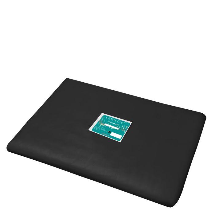 DOMIX Простыня в сложении SMS 15 80*200 см черная Эконом 20 шт/уп