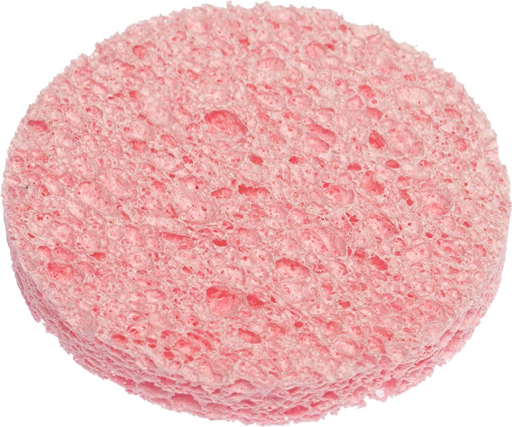 DEWAL BEAUTY Спонж для снятия макияжа, розовый 60x60x8 мм 3 шт