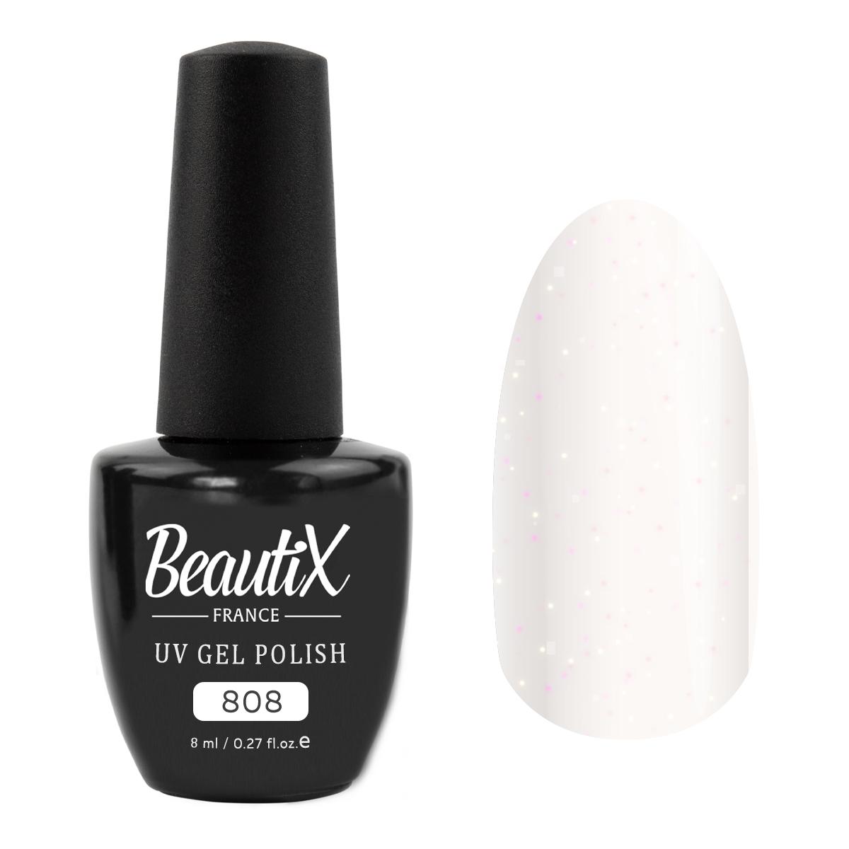 Купить BEAUTIX 808 гель-лак для ногтей 8 мл, Белые