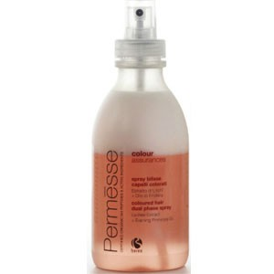 BAREX Спрей двухфазный для окрашенных волос с экстрактом личи и маслом энотеры / PERMESSE 250млСпреи<br>Рекомендуется для ухода за окрашенными волосами. Спрей-кондиционер моментального действия содержит 2 фазы   водную и масляную. В масляную фазу спрея входит масло энотеры, придающее волосам эластичность и здоровый блеск. В водную фазу спрея входят пептиды М4, которые смягчают волосы и облегчают их расчесывание, а также экстракт личи, сохраняющий интенсивность косметического цвета. Активные ингредиенты: масло энотеры, пептиды М4, экстракт личи. Не содержит парабенов. Способ применения: хорошо взболтать спрей-кондиционер и смешать обе фазы перед использованием. Нанести на влажные волосы, равномерно распределить по длине. Не смывать! Приступить к дальнейшей укладке.<br><br>Тип: Спрей-кондиционер<br>Объем: 250<br>Вид средства для волос: Двухфазный<br>Класс косметики: Косметическая<br>Типы волос: Окрашенные