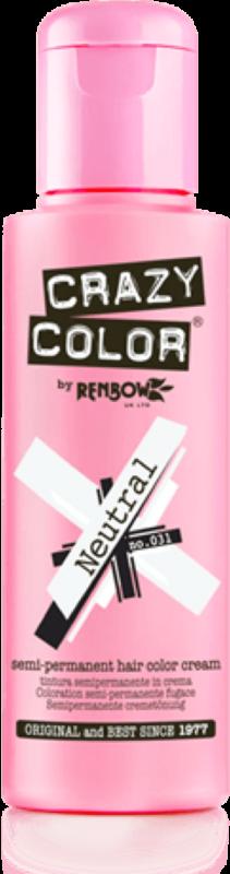 CRAZY COLOR Краска для волос (нейтральный, прозрачный) / Crazy Color Neutral, 100 мл