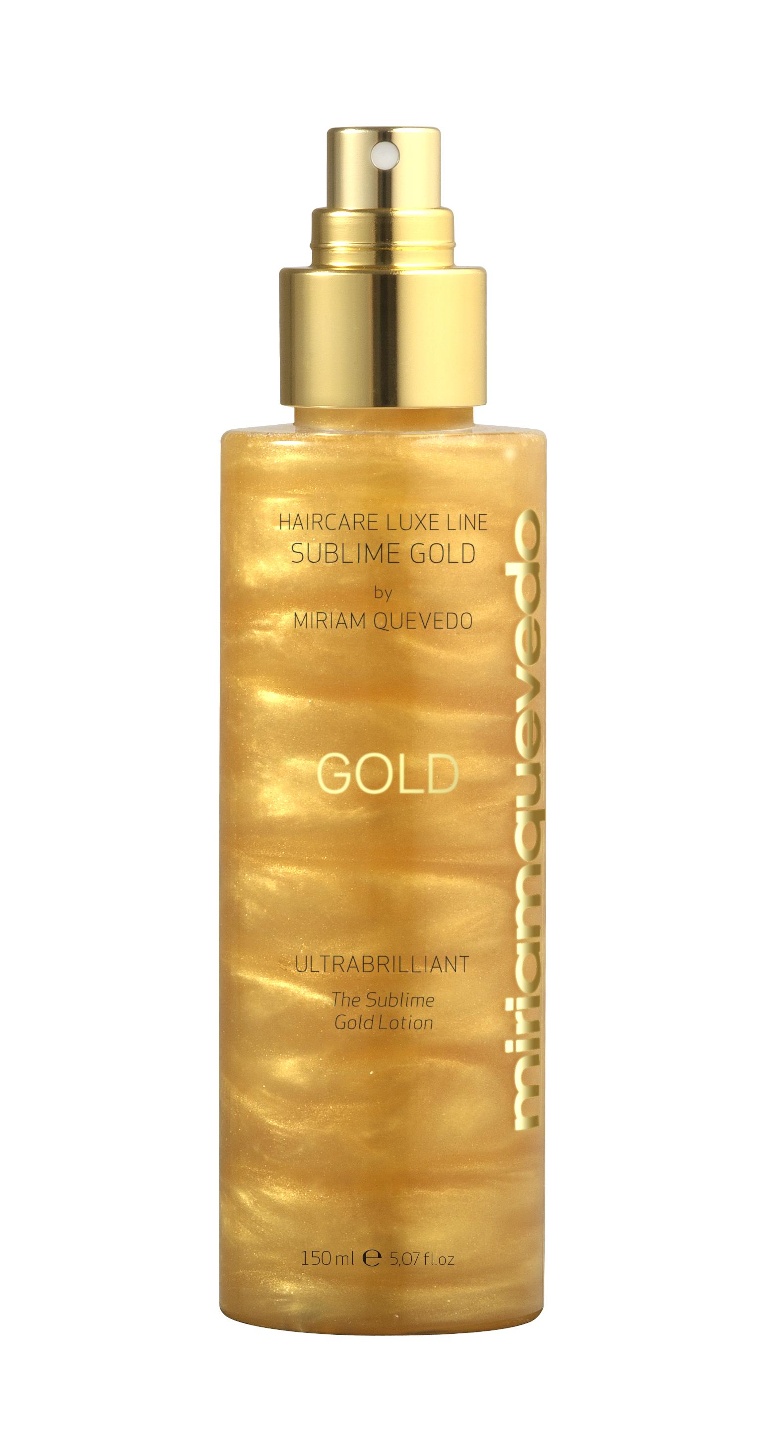 MIRIAM QUEVEDO Спрей-лосьон для ультра блеска Золотой / SUBLIME GOLD 150мл miriam quevedo сыворотка биовосстанавливающая против выпадения волос extreme caviar essential 6 10мл