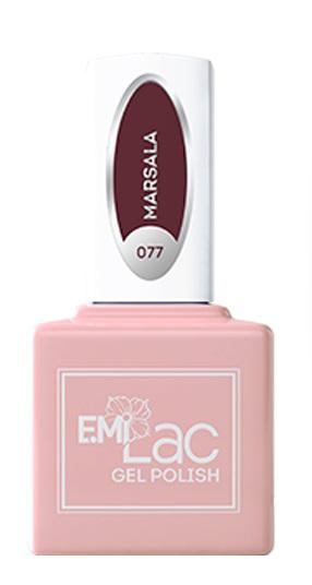 Купить E.MI 077 RT гель-лак для ногтей, Марсала / E.MiLac 6 мл, Фиолетовые