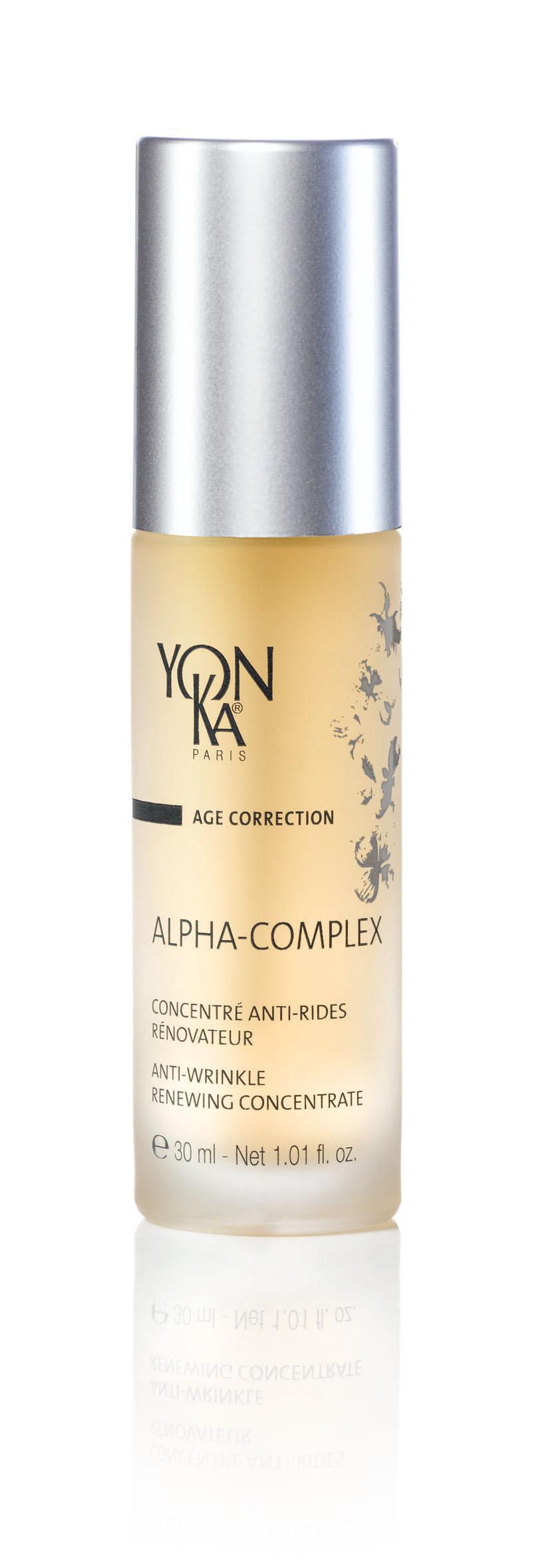 YON KA Гель-эксфолиатор Alpha-complex / AGE CORRECTION 30млГели<br>Интенсивно обновляющий кожу гель является прекрасным средством против старения, активизирует все жизненные функции кожи, не содержит жировых компонентов. - кардинально улучшает структуру эпидермиса, восстанавливает его водный баланс. - Уменьшает глубокие и мелкие морщины - Осветляет кожу, придает ей перламутровое сияние - Способствует удалению старых клеток с поверхности кожи, делая её шелковистой и нежной. Активные ингредиенты: лимон, пассифлора, виноград и ананас, богатые AHA (фруктовые кислоты), гиалуроновая кислота, мочевина, алоэ вера, мимоза, пептиды почек бука, витамин B5. Способ применения: наносить вечером на кожу лица и шеи после очищения и распыления лосьона Yon-Ka. При чувствительной коже рекомендуется наносить поверх ALPHA-COMPLEX свой ночной крем.<br><br>Объем: 30 мл<br>Вид средства для лица: Восстанавливающий<br>Назначение: Морщины