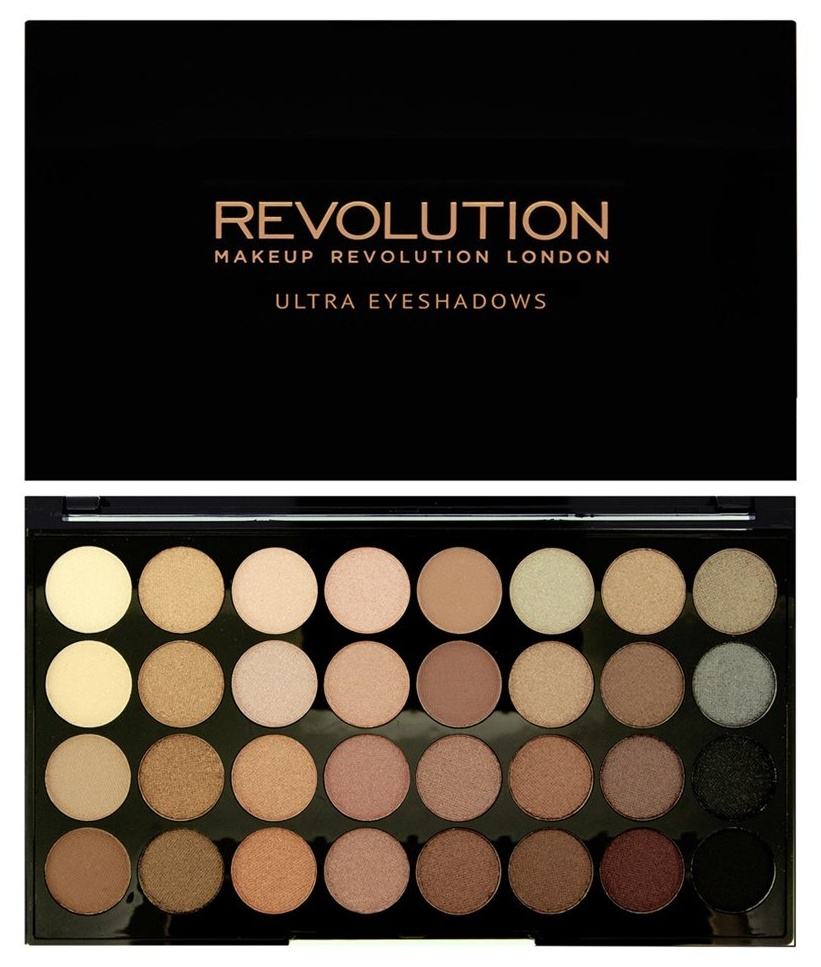 MAKEUP REVOLUTION Палетка теней для век / 32 ULTRA EYESHADOWS Beyond Flawless