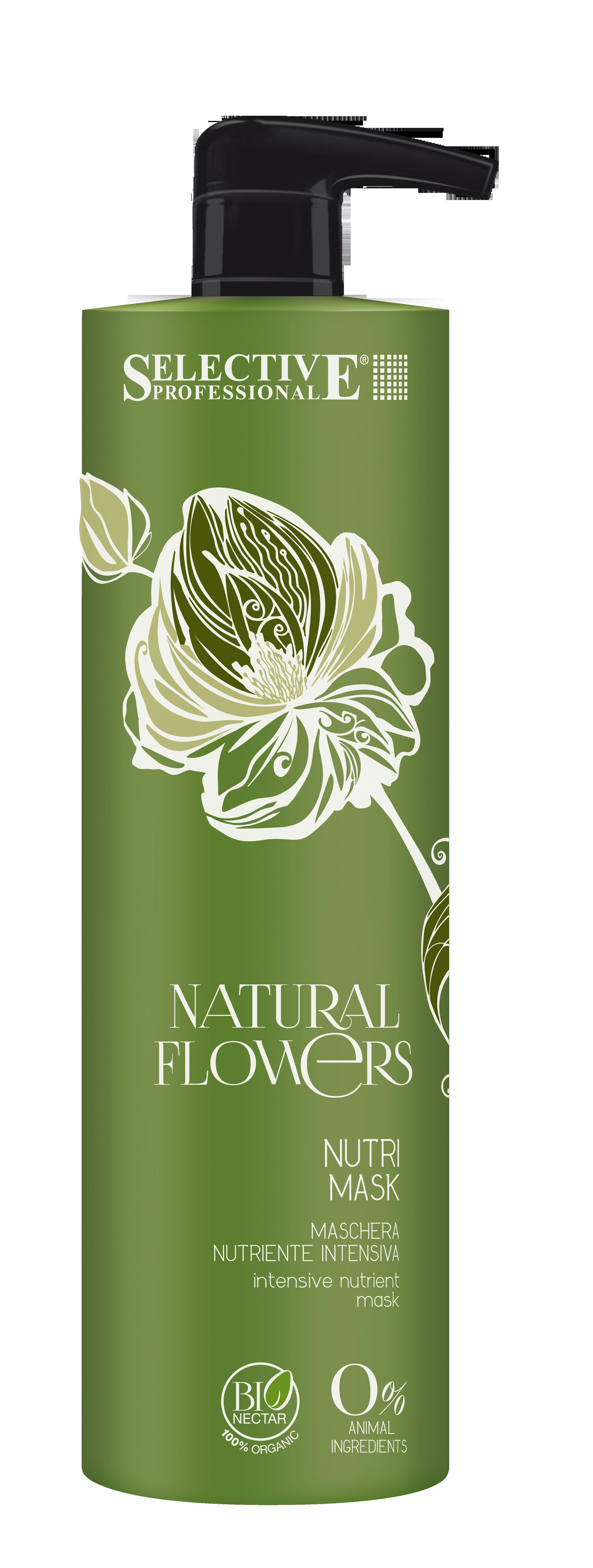SELECTIVE PROFESSIONAL Маска питательная для восстановления волос / Nutri Mask Natural Flowers 1000 мл