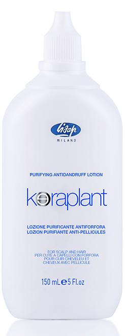 LISAP MILANO Лосьон очищающий против перхоти / KERAPLANT 150млЛосьоны<br>При регулярном применении устраняет проблему перхоти. Содержит комплекс растений Fitopur, богатый полифенолами и сахарами, которые обладают сильными антиоксидантными и противовоспалительными свойствами. Входящий в состав лосьона пироктон оламин, является мощным лечебным компонентом при борьбе с себореей, перхотью, оказывает антимикробное действие. Активные ингредиенты: комплекс растений Fitopur, пироктон оламин. Способ применения: равномерно распределить на кожу головы. Мягко промассировать. Не смывать. Курс применения по индивидуальной схеме.<br><br>Вид средства для волос: Очищающий<br>Класс косметики: Лечебная<br>Назначение: Перхоть