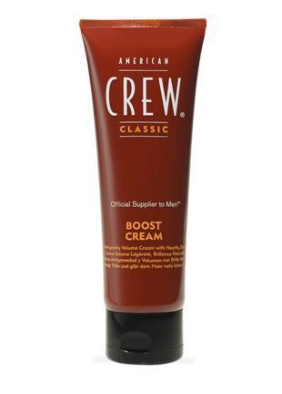 AMERICAN CREW Крем уплотняющий для придания объема / AC Classic Boost Cream 100млВолосы<br>Антигравитационный уплотняющий крем для укладки волос, придающий волосам здоровый вид, контролирующий завитки. Придает волосам визуальную густоту и повышает текстуру. Для получения дополнительного объема используйте American Crew Boost Powder. Способ применения: выдавите достаточное количество средства на ладони и равномерно распределите по всей длине волос. Предпочтительнее использовать на подсушенных полотенцем волосах.<br><br>Пол: Мужской