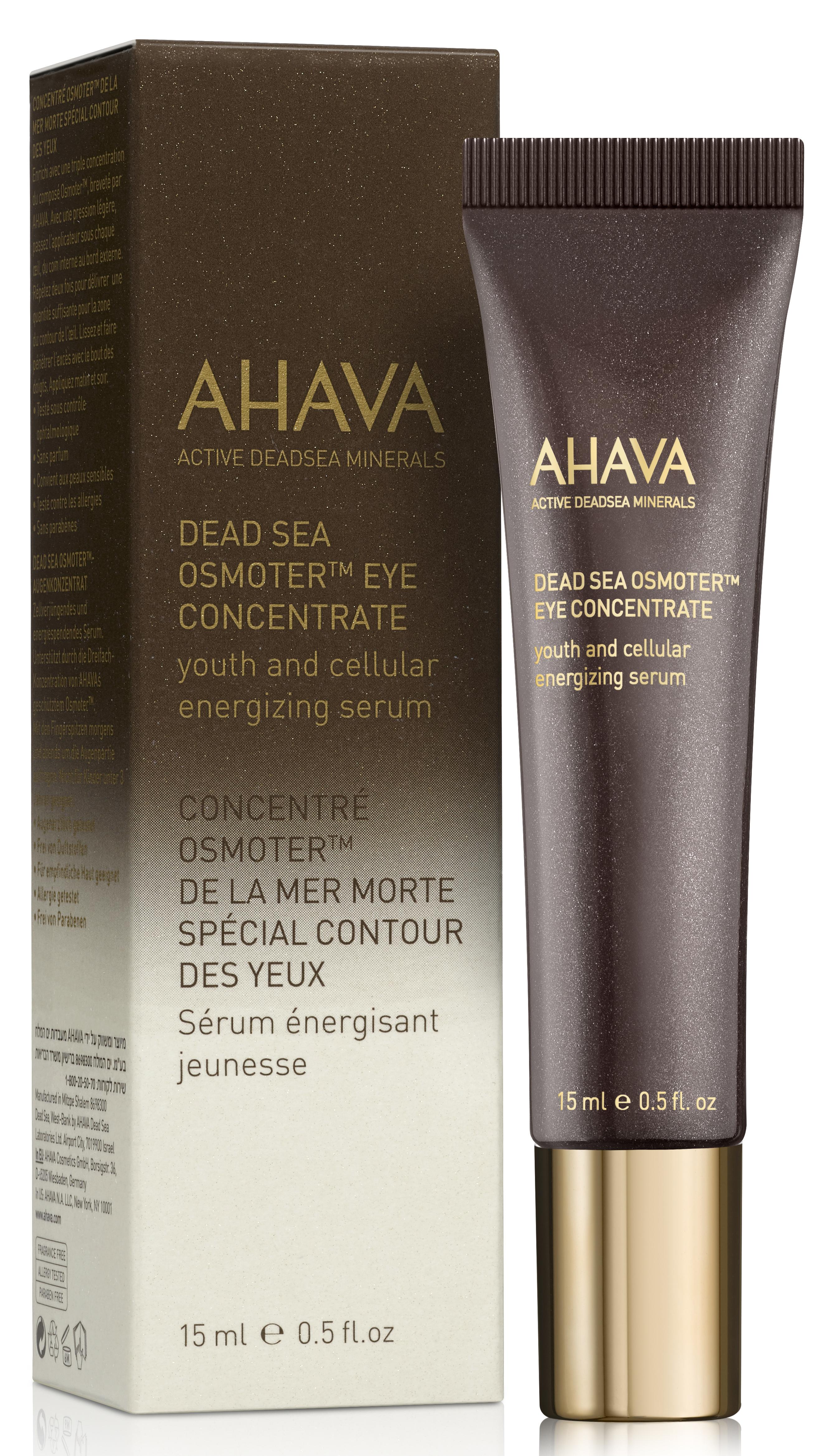 AHAVA Концентрат минералов мертвого моря для глаз / Osmoter Dsoc 15 мл