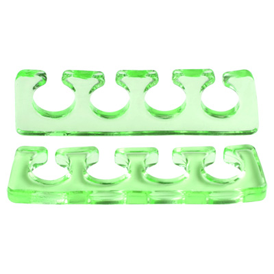 IRISK PROFESSIONAL Расширитель силиконовый для пальцев, 05 прозрачно-зеленый 2 шт