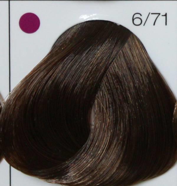 LONDA PROFESSIONAL 6/71 Краска для волос LC NEW инт.тонирование тёмный блонд коричнево-пепельный, 60мл