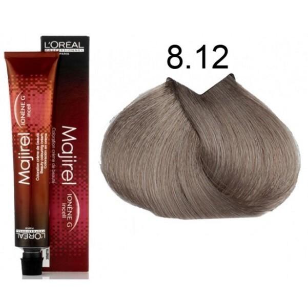 LOREAL PROFESSIONNEL 8.12 краска для волос / МАЖИРЕЛЬ 50млКраски<br>8.12 Светлый блондин пепельно-перламутровый 50 мл. Крем-краска Мажирель от LOreal Professionnel придает волосам больше мягкости и блеска. Крем-краска сделает ваши волосы более шелковистыми и прекрасно справится с первыми признаками седин. Новая формула гарантирует высокое качество волоса и, как следствие, великолепный, ровный, стойкий, точный цвет. Система высокой стойкости (НТ) позволяет в 2 раза увеличить сопротивляемость волос вредному воздействию ультрафиолетового излучения и защищает цвет от вымывания. Система проявления цвета (Revel Color) отвечает за чистоту и насыщенность цвета.Защита здоровья волос между двумя окрашиваниями. Активные ингредиенты:&amp;nbsp; микрокатионный полимер Ионен G и инновационная молекула Incell, действующие на все три зоны строения волоса. Способ применения: крем-краска используется в соотношении: 1 тюбик 50 мл + 75 мл оксидента 6% для осветления до 2-х тонов. Для осветления на 3 тона используйте оксидент 9%. Нанесите смесь при помощи кисточки на сухие невымытые волосы, начиная с корней. Общее время выдержки 35 минут. Порядок нанесения смеси на длину и на кончики волос зависит от состояния цвета, оставшегося по длине и на кончиках: В случае, если цвет по длине и на кончиках мало изменился (оттенок остался практически первоначальным): нанесите смесь на длину и на кончики за 5 минут до истечения времени выдержки. В случае, если цвет по длине и на кончиках изменился средне (вымытый оттенок): нанесите смесь на длину за 20 минут до истечения времени выдержки.&amp;nbsp; В случае, если цвет по длине и на кончиках сильно изменился (оттенок потерян   на 1 тон светлее): немедленно распределите по длине.&amp;nbsp; &amp;nbsp;Тщательно эмульгируйте. Смойте. Используйте шампунь Оптимальный Пост Колор.<br><br>Объем: 50 мл<br>Типы волос: Для всех типов