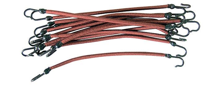 SIBEL Резинки на крючках коричневые 12 шт