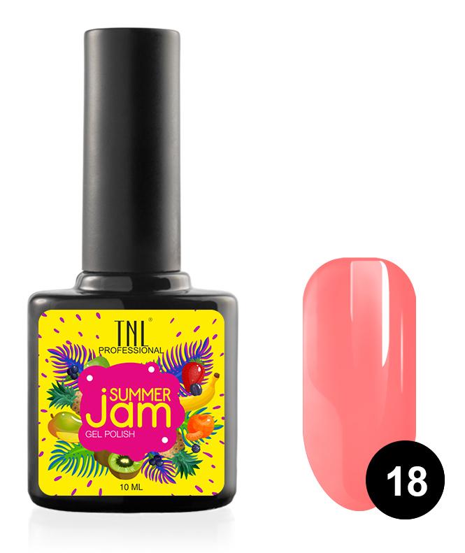 Купить TNL PROFESSIONAL 18 гель-лак для ногтей, неоновый светло-коралловый / Summer Jam 10 мл, Розовые