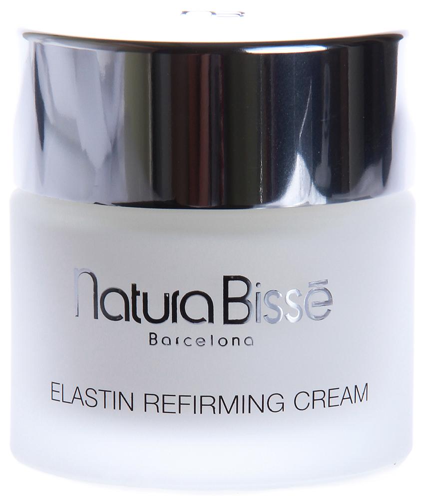 NATURA BISSE Крем с эластином ночной / Elastin Refirming Night Cream DRY SKIN REGIME 75млКремы<br>Elastin Refirming Night Cream предназначен для сухой, склонной к образованию морщин кожи. Содержит высокоочищенные натуральные свободные аминокислоты белка эластина, восстанавливающие упругость и эластичность кожи. Масло шиповника, богатое витамином С, и натуральный увлажняющий фактор, входящие в состав средства, возвращают сухой коже утраченную влагу и способствуют разглаживанию морщин. Восстанавливает эластичность и увлажняет кожу. Активные ингредиенты (состав): Water (Aqua), Caprylic/Capric Triglyceride, Decyl Oleate, C12-20 Acid PEG-8 Ester, Propylene Glycol, Lanolin, Cetearyl Ethylhexanoate, Glyceryl Stearate, Hydrolyzed Elastin, Rosa Canina Fruit Oil, Cetyl Phosphate, Carbomer, Triethanolamine, Sodium PCA, Sodium Chondroitin Sulfate, Glycerin, BHT, Imidazolidinyl Urea, Phenoxyethanol, Methylparaben, Propylparaben, Fragrance (Parfum), Limonene, Geraniol, Hydroxycitronellal, Linalool, Citronellol, Cinnamyl Alcohol, Citral, Benzyl Benzoate. Способ применения: наносить вечером легкими массирующими движениями на предварительно очищенную кожу. Рекомендуется особое внимание уделять шее, зоне декольте и груди.<br><br>Объем: 75<br>Вид средства для лица: Увлажняющий<br>Типы кожи: Сухая и обезвоженная<br>Назначение: Морщины<br>Время применения: Ночной
