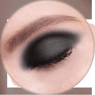 AVANT scene Тени микропигментированные, Luxuory Nude, матовый мега черный оттенок R108